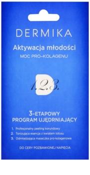 Dermika 1. 2. 3. cuidado reafirmante trifásico para pele madura