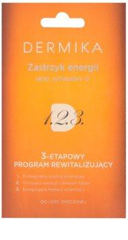 Dermika 1. 2. 3. háromfázisú revitalizáló ápolás fáradt bőrre