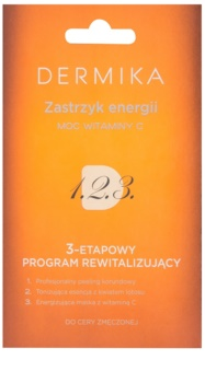 Dermika 1. 2. 3. revitaliesierende 3-Phasen-Pflege für müde Haut
