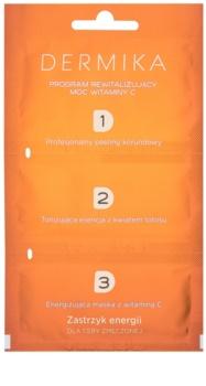 Dermika 1. 2. 3. třífázová revitalizační péče pro unavenou pleť