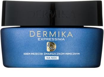 Dermika Expressima regenerierende Nachtcreme gegen Mimikfalten