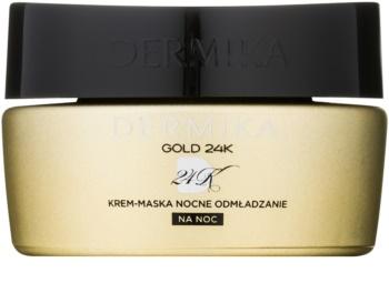 Dermika Gold 24k Total Benefit Cremige Nachtmaske mit regenerierender Wirkung