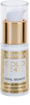 Dermika Gold 24k Total Benefit омолоджуючий крем для шкріри навколо очей