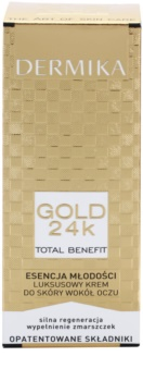 Dermika Gold 24k Total Benefit luxusný omladzujúci krém na očné okolie