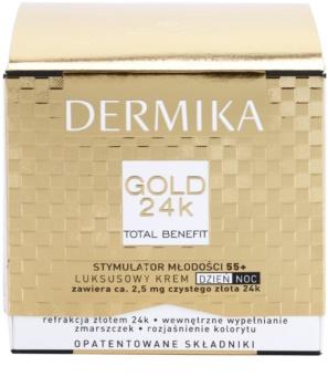 Dermika Gold 24k Total Benefit luxuriöse verjüngende Creme 55+
