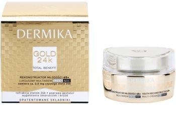 Dermika Gold 24k Total Benefit creme rejuvenescedor luxuoso 65+