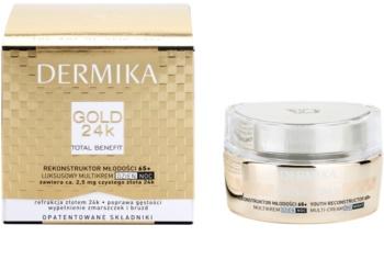 Dermika Gold 24k Total Benefit luxuriöse verjüngende Creme 65+