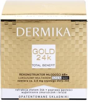 Dermika Gold 24k Total Benefit luxusní omlazující krém 65+