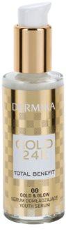 Dermika Gold 24k Total Benefit ser de reintinerire lumineaza si catifeleaza pielea