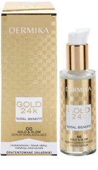 Dermika Gold 24k Total Benefit omlazující sérum pro rozjasnění a vyhlazení pleti