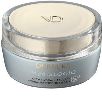 Dermika HydraLOGIQ crema matificante hidratante para pieles normales y mixtas