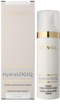 Dermika HydraLOGIQ Ser hidratant cu efect de exfoliere 30+