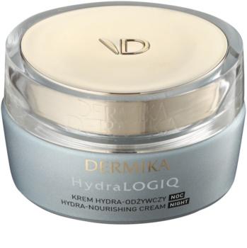 Dermika HydraLOGIQ éjszakai tápláló krém hidratáló hatással