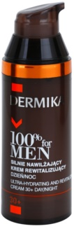 Dermika 100% for Men ultra-feuchtigkeitsspendende und revitalisierende Creme 30+
