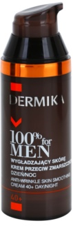 Dermika 100% for Men glättende Anti-Falten Creme 40+