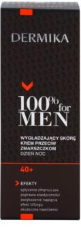 Dermika 100% for Men creme suavizante antirrugas 40+