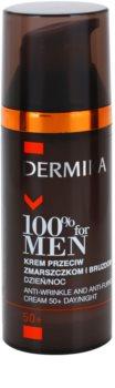 Dermika 100% for Men krém proti hlubokým vráskám 50+