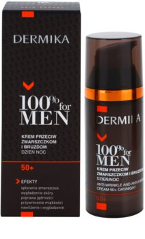 Dermika 100% for Men Crema impotriva ridurilor profunde. 50+