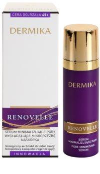 Dermika Renovelle 45+ sérum facial para alisar pele e minimizar poros