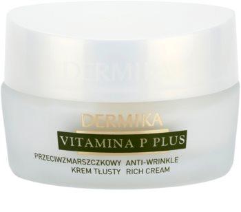 Dermika Vitamina P Plus crème nourrissante anti-rides pour peaux sensibles sujettes aux rougeurs