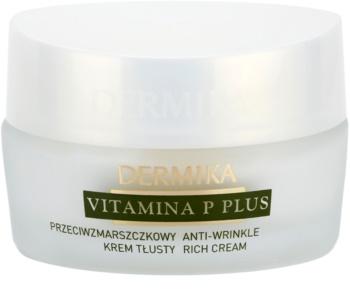 Dermika Vitamina P Plus výživný protivráskový krém pro citlivou pleť se sklonem ke zčervenání