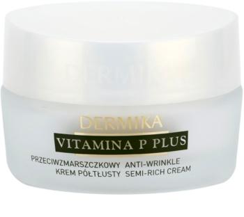 Dermika Vitamina P Plus protivráskový krém pro citlivou pleť se sklonem ke zčervenání