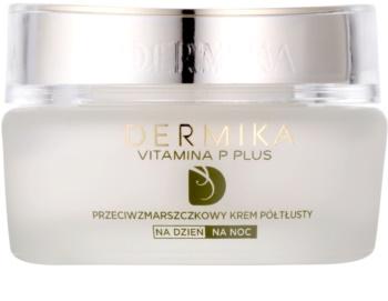 Dermika Vitamina P Plus Anti-Rimpel Crème  voor Gevoelige Huid met Neiging tot Roodheid