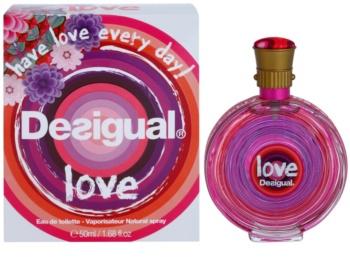 Desigual Love Eau de Toilette für Damen 50 ml