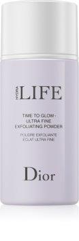 Dior Hydra Life Time To Glow čisticí pudr s peelingovým efektem