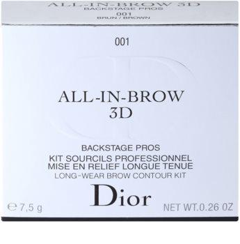 Dior All-In-Brow 3D sada pre dokonalé obočie