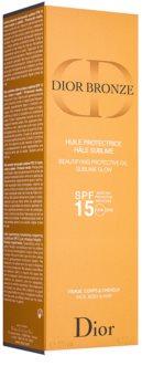 Dior Bronze захисна освітлююча олійка для засмаги SPF15