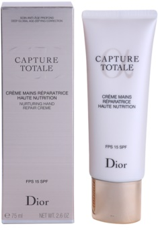Dior Capture Totale crema nutritiva para manos  SPF 15