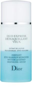 Dior Cleansers & Toners dvojzložkový odličovač očí pre citlivú pleť