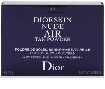 Dior Diorskin Nude Air Tan Powder pudra  bronzanta cu pensula