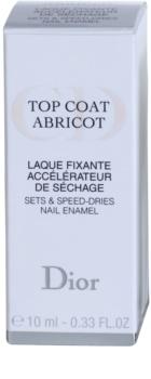 Dior Top Coat Abricot rýchloschnúci vrchný lak na nechty