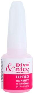Diva & Nice Cosmetics Accessories клей для нігтів зі щіточкою