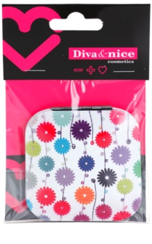 Diva & Nice Cosmetics Accessories espelho de maquilhagem quadrado