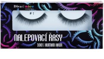 Diva & Nice Cosmetics Accessories nalepovacie riasy z prírodných vlasov