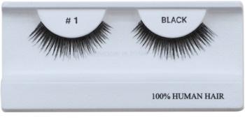 Diva & Nice Cosmetics Accessories nalepovací řasy z přírodních vlasů