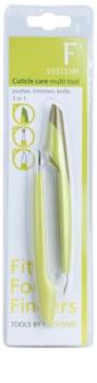 Diva & Nice Cosmetics Accessories multifunkční nástroj na péči o nehtovou kůžičku 3 v 1