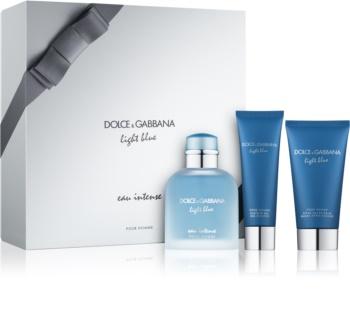 Dolce & Gabbana Light Blue Pour Homme Eau Intense coffret cadeau I.
