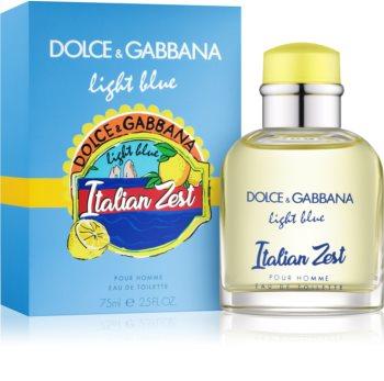 Dolce & Gabbana Light Blue Italian Zest toaletní voda pro muže 75 ml