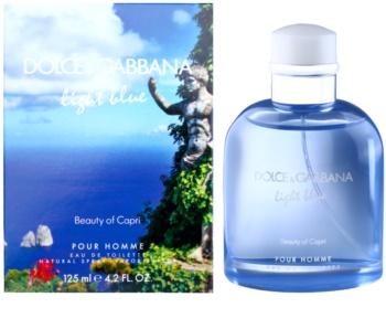 Dolce & Gabbana Light Blue Beauty of Capri woda toaletowa dla mężczyzn 125 ml