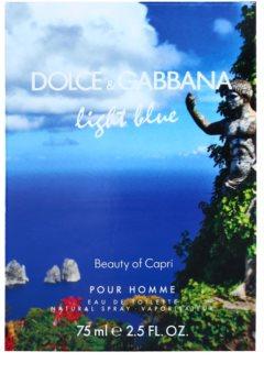 Dolce & Gabbana Light Blue Beauty of Capri woda toaletowa dla mężczyzn 75 ml