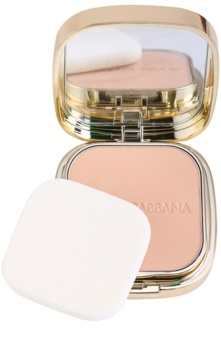 Dolce & Gabbana The Foundation Perfect Matte Powder Foundation pudra make up mata cu oglinda si aplicator