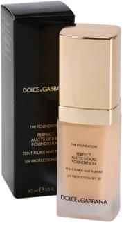 Dolce & Gabbana The Foundation Perfect Matte Liquid Foundation make-up pro matný vzhled