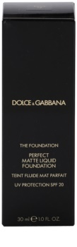 Dolce & Gabbana The Foundation Perfect Matte Liquid Foundation fond de teint effet mat