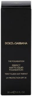 Dolce & Gabbana The Foundation Perfect Matte Liquid Foundation make up matujące