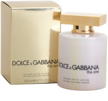 Dolce & Gabbana The One mleczko do ciała dla kobiet 200 ml (golden satin)