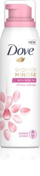 Dove Rose Oil espuma de banho 3 em 1